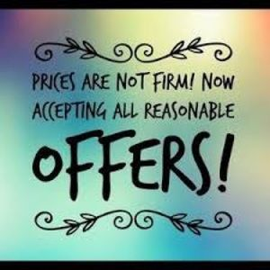 I'm flexible on reasonable offers! 💞😀⭐️